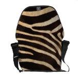 Faux Zebra Stripe Fur Courier Bags
