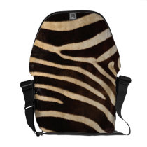 Faux Zebra Stripe Fur Messenger Bag