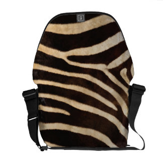Faux Zebra Stripe Fur Messenger Bag
