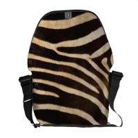 Faux Zebra Stripe Fur rickshawmessengerbag