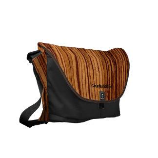 Faux Zebrawood Brown and Black Custom Bag
