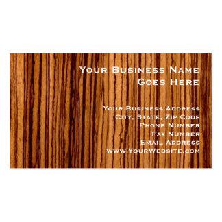 Faux Zebrawood Woodgrain Executive Business Card Template