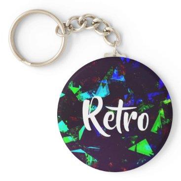 Beach Themed FauxHolo Retro Keychain