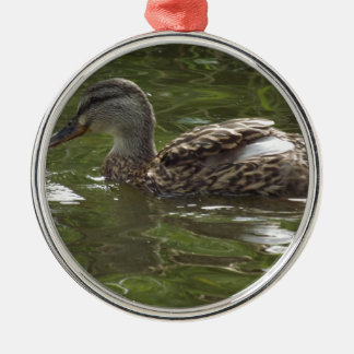 Fav poco duckie adorno navideño redondo de metal