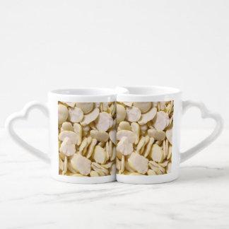 Fava beans coffee mug set