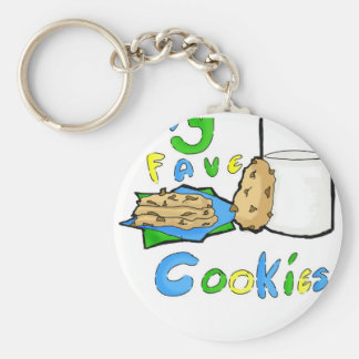 """""""Fave Cookies"""" Buttons Basic Round Button Keychain"""