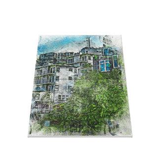 Favelas 2020 de San Futurisco TwinPeaks Lona Envuelta Para Galerias