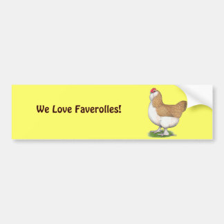 Faverolle Hen Bumper Sticker