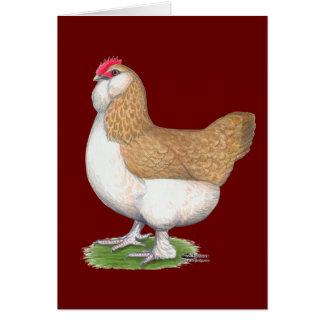 Faverolle Hen Card