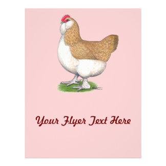 Faverolle Hen Flyer Design