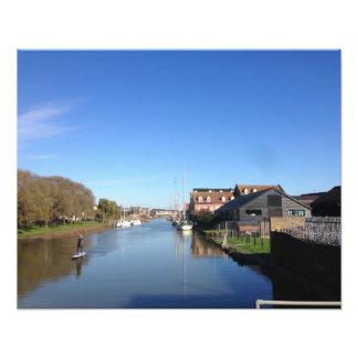 Faversham Creek, England, with Paddle Boarder Photo Print