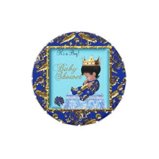 Favor azul del Príncipe heredero del muchacho del  Jarrones De Caramelos