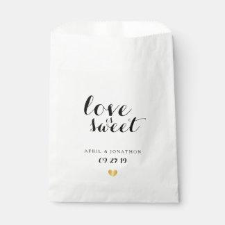Favor Bag - Love is Sweet Golden