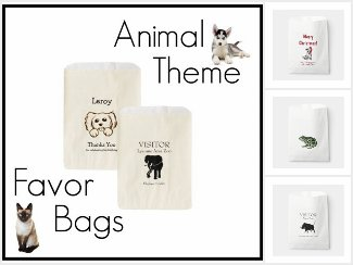 Favor Bags with Animals