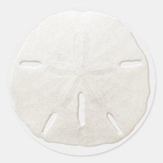 Favor blanco simple del boda de playa del dólar de pegatina redonda