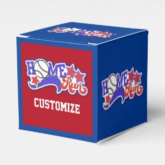 Favor blanco y azul rojo Box2 del cubo del béisbol Cajas Para Detalles De Boda