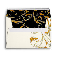 Favor Box Glam Old Hollywood Regency Black Tie Envelope