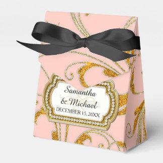 Favor Box Glam Old Hollywood Regency Black Tie Favor Boxes