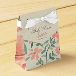 FAVOR BOX | Vintage Floral Storybook Baby Shower