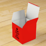 [Cutlery and plate] keep calm and eat food  Favor Boxes Party Favour Box