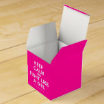 keep calm and fight like a girl  Favor Boxes Party Favour Box
