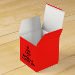 [Crown] keep calm my birthday august 3rd  Favor Boxes Party Favour Box