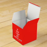 [Cupcake] keep calm and eat chocolate  Favor Boxes Party Favour Box