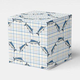 Favor/caja de regalo - agujas azules en la tela cajas para regalos de boda