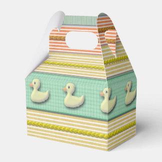 Favor/caja de regalo - patos en una fila cajas para detalles de boda