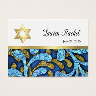 Favor Card Blue and Gold Layered Look