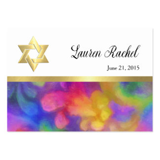 Favor Card Colorful Painted Damask with Any Color Large Business Card