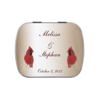 Favor cardinal del boda latas de dulces