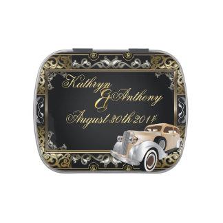 Favor clásico del boda del estilo de Gatsby del Latas De Caramelos