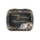 Favor clásico del boda del estilo de Gatsby del vi Jarrones De Caramelos