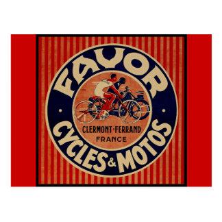 Favor Cycles & Motors Postcard