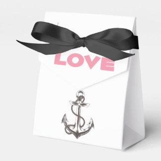 Favor de banquete de boda náutico del amor del caja para regalo de boda