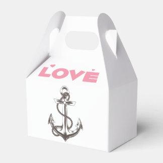 Favor de banquete de boda náutico del amor del caja para regalos