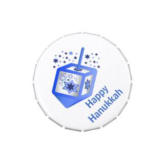 Favor de fiesta de encargo azul de Hannukkah Frascos De Dulces