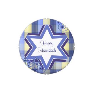 Favor de fiesta de encargo colorido de Hannukkah Latas De Caramelos