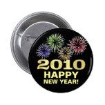 Favor de fiesta de la Feliz Año Nuevo 2010 - botón Pin