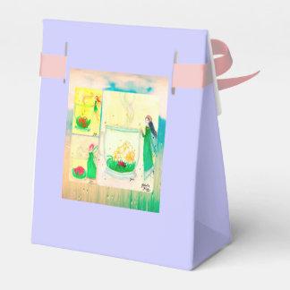 Favor de fiesta del té floreciente de las hadas cajas para regalos