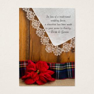 Favor de la caridad del boda del invierno del tarjetas de visita grandes