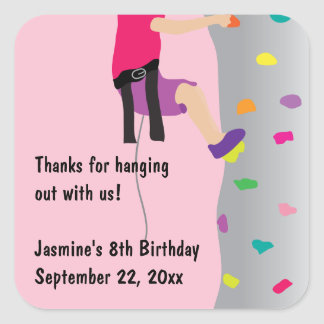 Favor de la fiesta de cumpleaños de la pared de la pegatina cuadrada