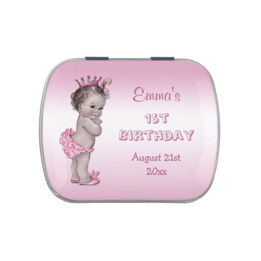 Favor de la fiesta de cumpleaños de princesa Pink  Frascos De Dulces