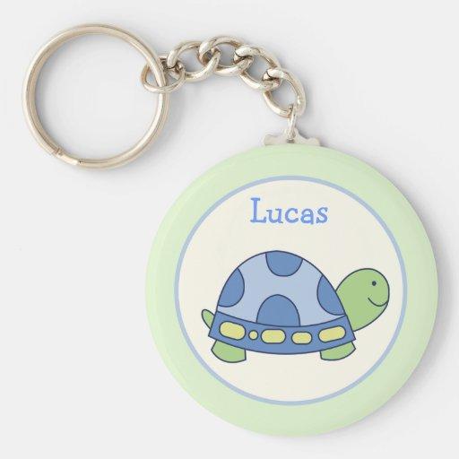Favor de la tortuga de los amigos de la charca o llavero redondo tipo pin