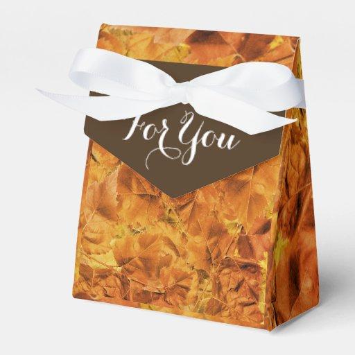Favor de las hojas de otoño del boda de la caída paquete de regalo