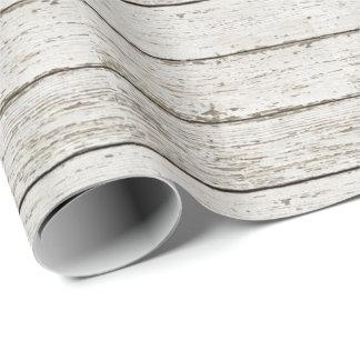 favor de madera del boda del granero del granero papel de regalo