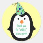 Favor del cumpleaños del gorra del fiesta del ping etiquetas redondas