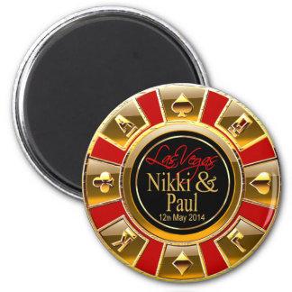 Favor del microprocesador del casino del oro de Ni Imán De Nevera