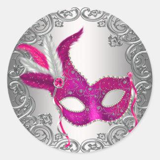 Favor del sello del sobre de la mascarada de la pegatina redonda